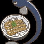 鰻とうな丼のイラスト(カラー版)