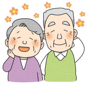 高齢者夫婦のイラスト