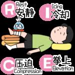 rice処置をうける人のイラスト