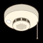 火災報知器のイラスト(カラー版)