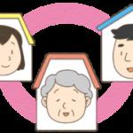 ご近所と連携をとるイメージのイラスト(カラー版)