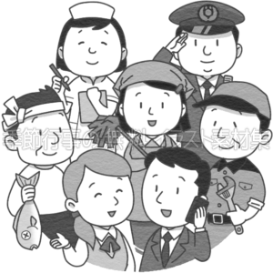 勤労感謝の日のイラスト(白黒版)