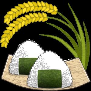 稲とおむすびのイラスト