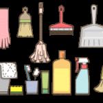 掃除道具のイラスト(カラー版)