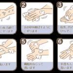 手の洗い方の手順のイラスト(カラー版)