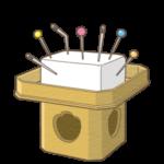 針供養のイラスト(カラー版)