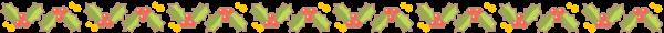 柊のライン素材(カラー版)