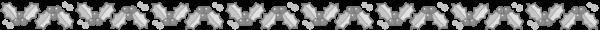 柊のライン素材(白黒版)