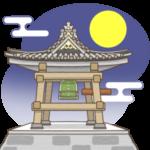 除夜の鐘のイラスト(カラー版)