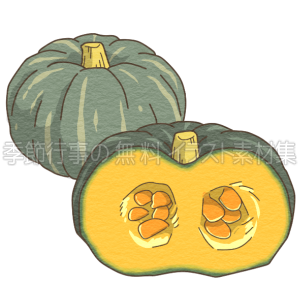 かぼちゃ(南瓜)のイラスト
