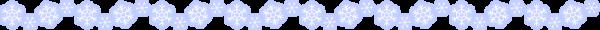 雪の結晶のライン素材(カラー版)