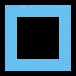 四角「しかく」マークのイラスト(青)