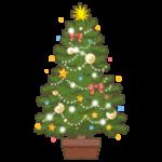 クリスマスツリーのイラスト(カラー版)