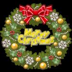 クリスマスリースのイラスト(カラー版)