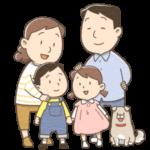 4人家族のイラスト(カラー版)