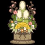 門松のイラスト(カラー版)