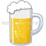 ビール(ジョッキ)のイラスト(カラー版)