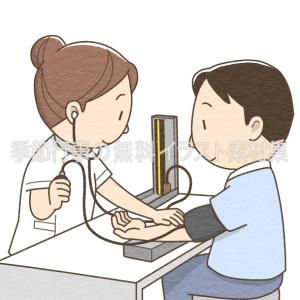 血圧測定をしている看護師のイラスト