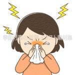 鼻をかむ人のイラスト(カラー版)