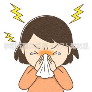 鼻をかむ人のイラスト