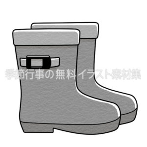 長靴のイラスト(白黒版)