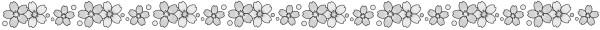 桜のライン素材(白黒版)