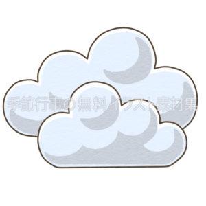 雲のマークのイラスト