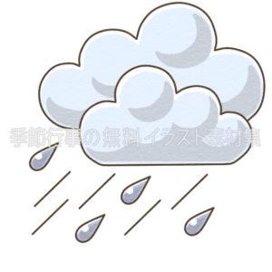 雨のマークのイラスト