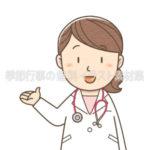 案内・紹介する女性医師のイラスト(カラー版)