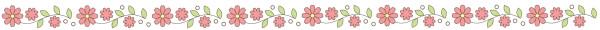 お花のライン素材