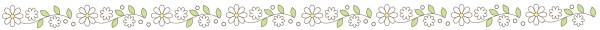 白いお花のライン素材