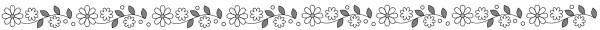 お花のライン素材(白黒版)