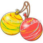ヨーヨー風船のイラスト(カラー版)
