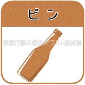 瓶(ビンごみ)のマーク