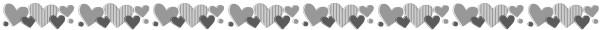 ハートのライン素材(白黒版)