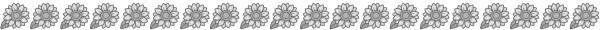 ひまわりの飾り罫線(白黒版)