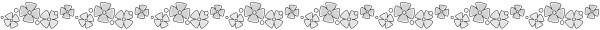 あじさい(紫陽花)のライン素材(白黒版)