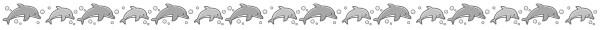 イルカの飾り罫線(白黒版)