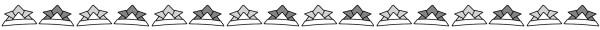 カブト(兜)のライン素材(白黒版)