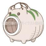 蚊取り豚のイラスト(カラー版)