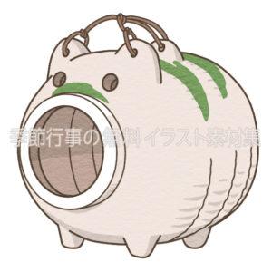 蚊取り豚のイラスト