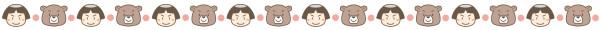 金太郎と熊のライン素材