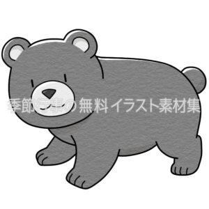 くまのイラスト(白黒版)