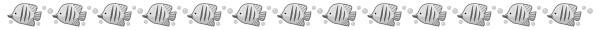 魚(チョウチョウウオ)の飾り罫線(白黒版)