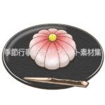 練りきりの和菓子のイラスト(カラー版)