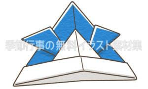 折り紙のかぶと(兜)のイラスト