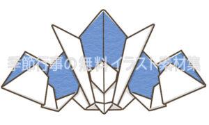 かっこいいカブト(兜)折り紙のイラスト(カラー版)