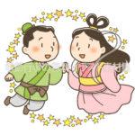 織姫と彦星のイラスト(カラー版)