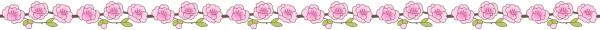 桃の花のライン素材