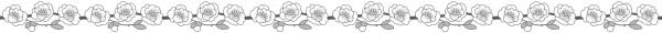 桃の花のライン素材(白黒版)